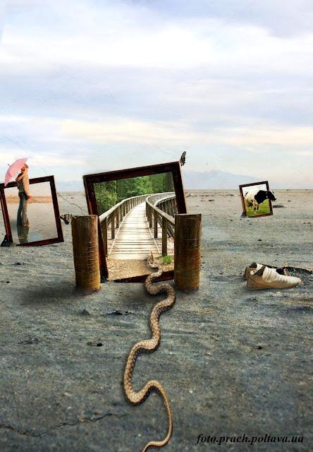 Пустыня (сюрреализм в стиле Сальвадора Дали)