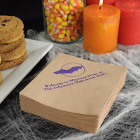 Personalized Spooky Bat Recycled Napkins