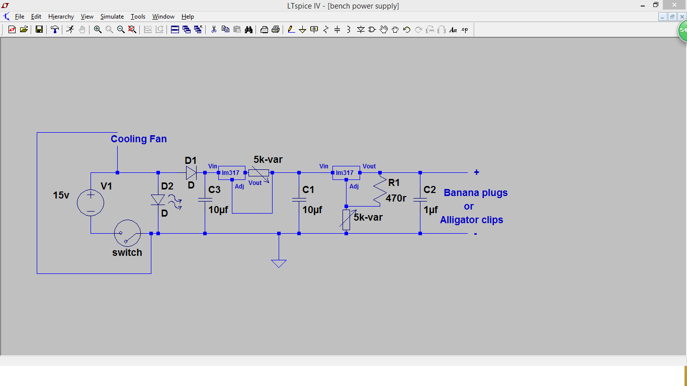 Ic Projects 2016 Variable Power Supply Using 7805 How To Make A Simple Bench 2 Lm317 1 Project37