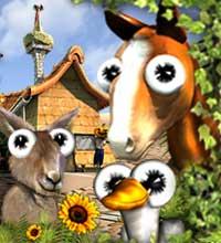 imagem jogo Farmerama logo com animais