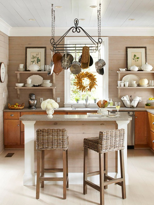 Homey Kitchen With Open Shelving