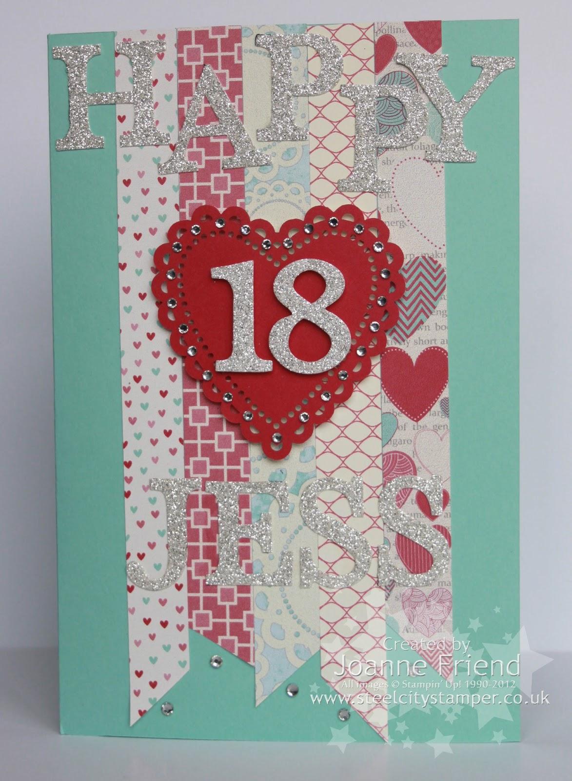 Steel City Stamper 18th Birthday Card