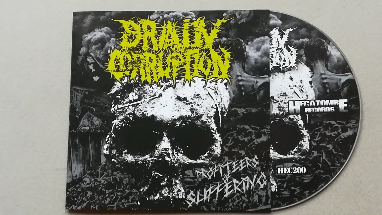 "BRAIN CORRUPTION -""Profiteers of Suffering"" CD ( grindcore )"