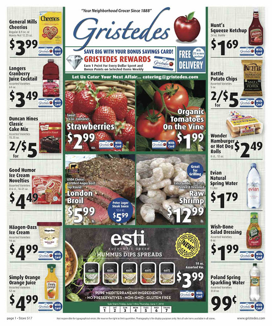 CHECK OUT ROOSEVELT ISLAND GRISTEDES Products, SALES & SPECIALS For June 15 - June 21