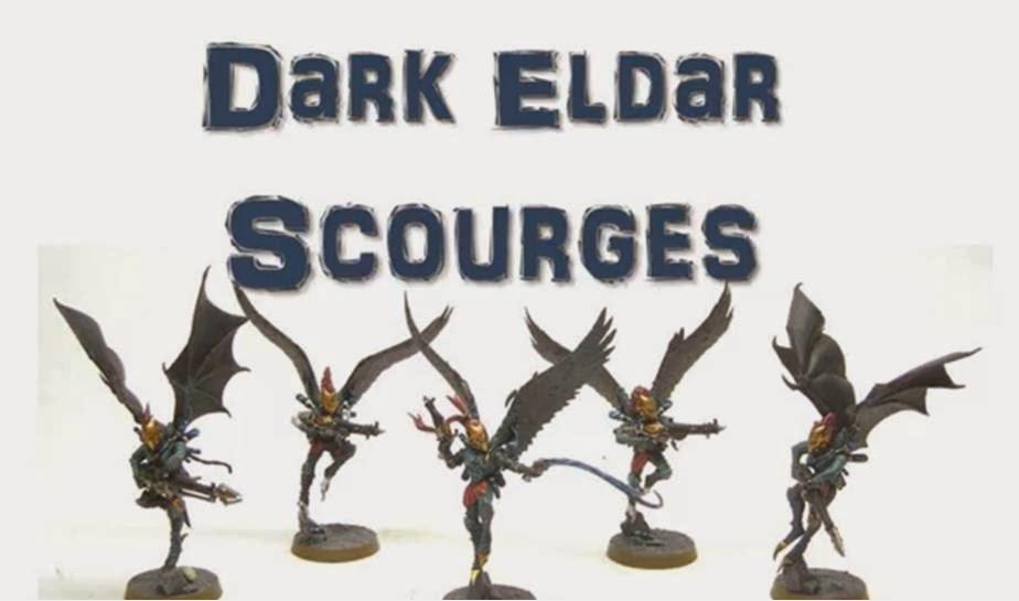 escuadra de  Azotes de los Eldars Oscuros para Warhammer 40000