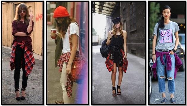 street style cuadros escoceses cintura