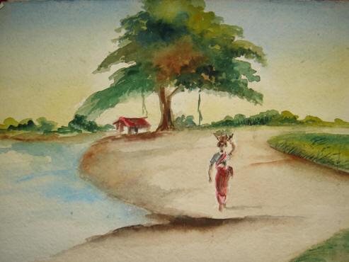 Kerala Village Oil Paintings
