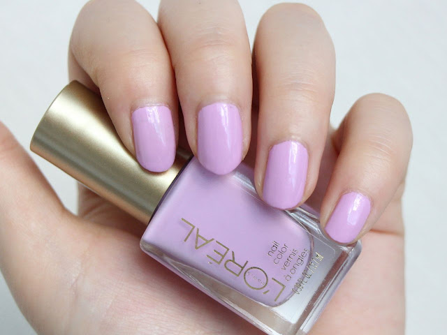 L'Oreal Paris Nail Polish Lacey Lilac Swatches