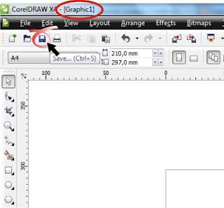 Cara Menyimpan File, Tutorial Lengkap CorelDraw Bahasa Indonesia