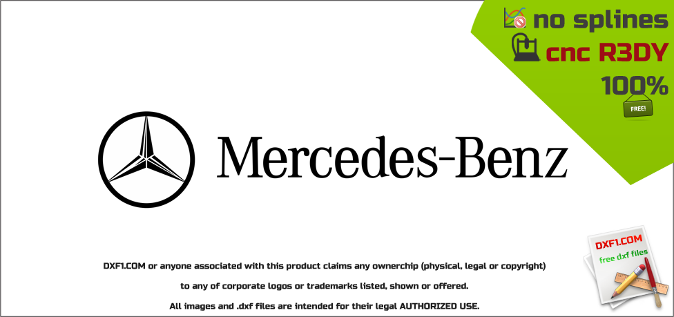 mercedes benz logo dxf vector cnc ready free download