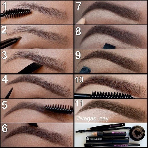Como desenhar a sobrancelha perfeita com sombra e lápis para os olhos