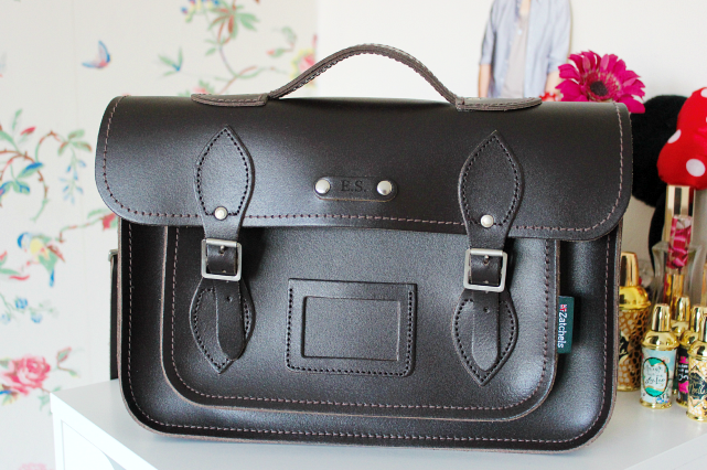 Review | Zatchels Dark Brown Leather Satchel