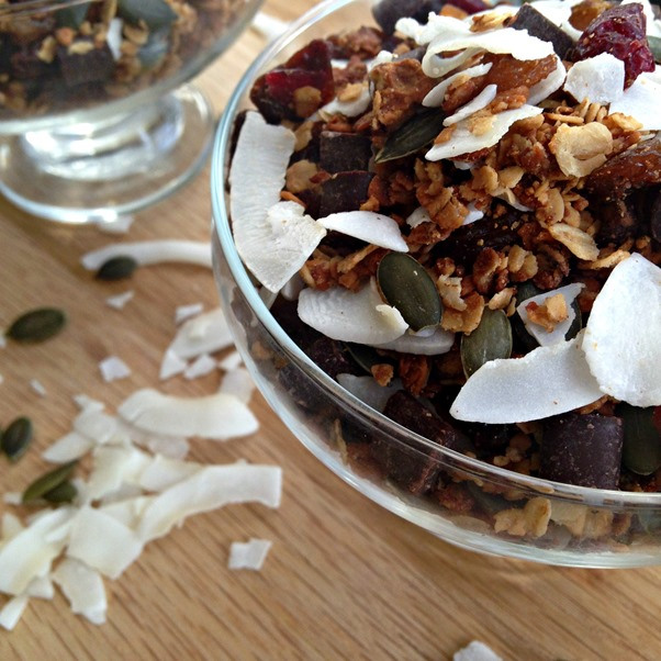 Salted Peanut Butter Granola from Celery and Cupcakes