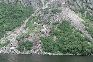 destructive landslides in the Fjord