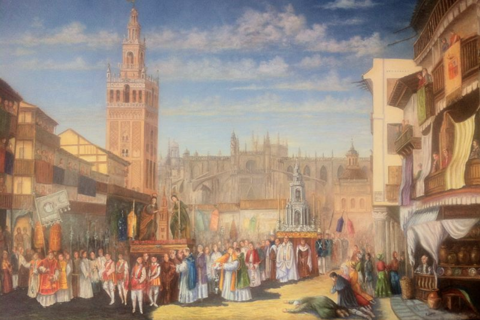 LA SEVILLA DE AYER. Corpus en Sevilla