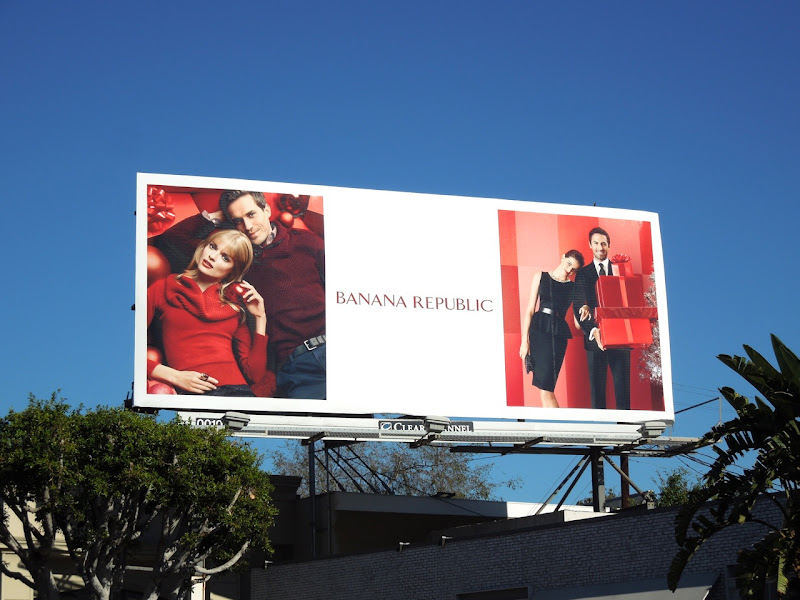 Banana Republic Holidays 2012 billboard