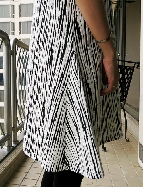 Streak Patterned A-Line Dress