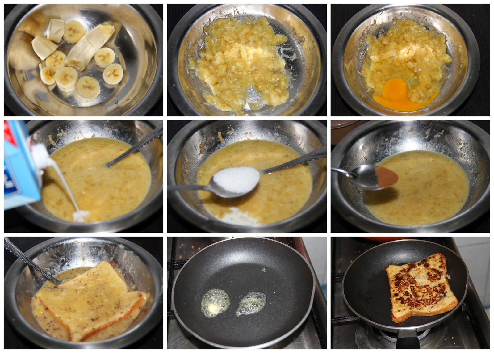 How To Make French Toast Without Eggs And Milk Lance's Own French Toast  Heat The Nonstick