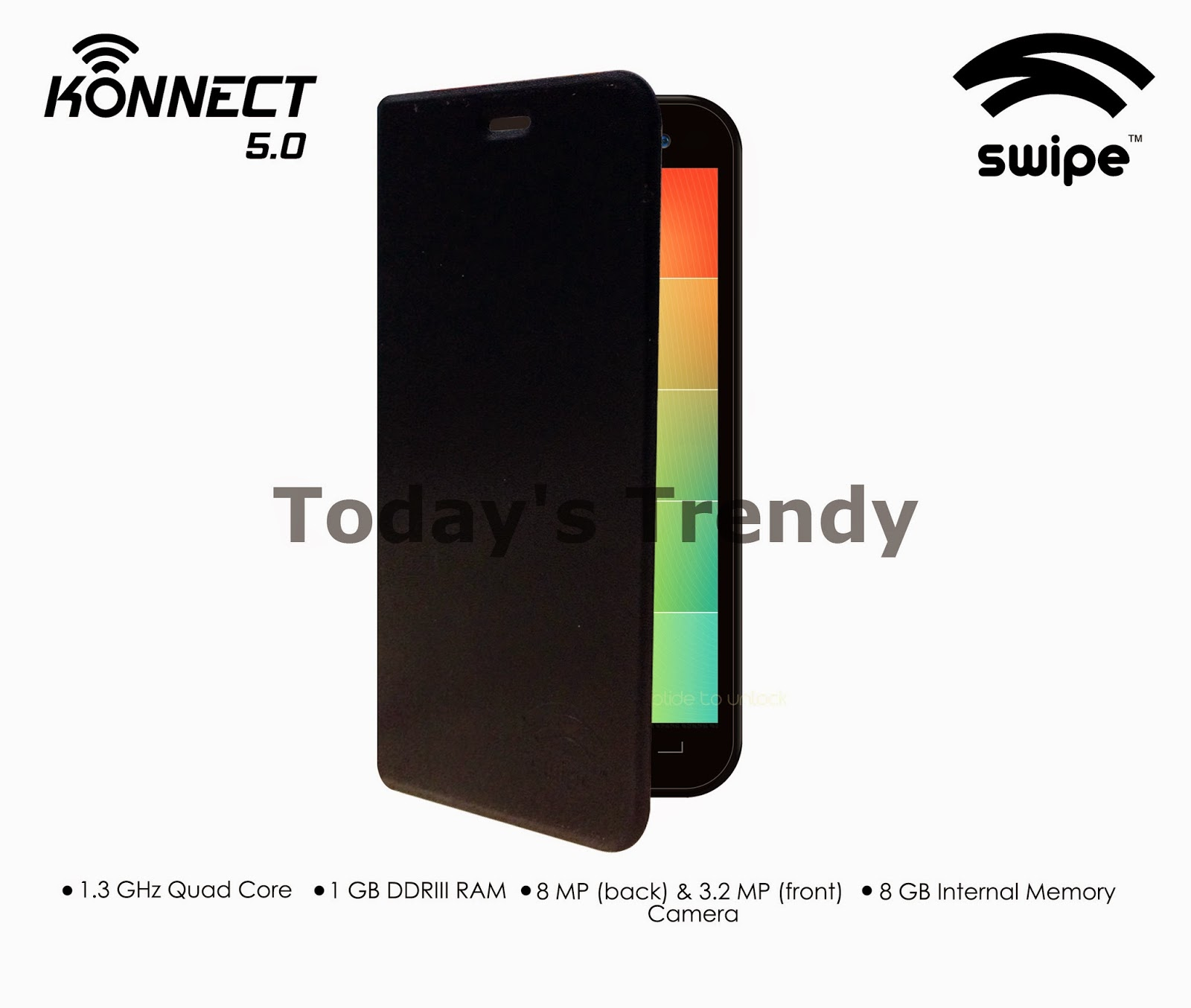 Swipe Konnect 5.0 with flap cover