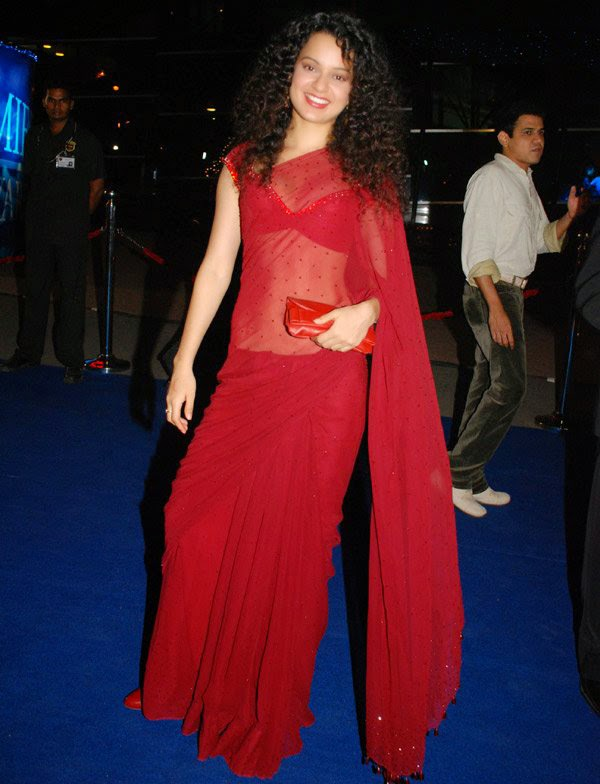 Kangana Ranaut hot saree photos