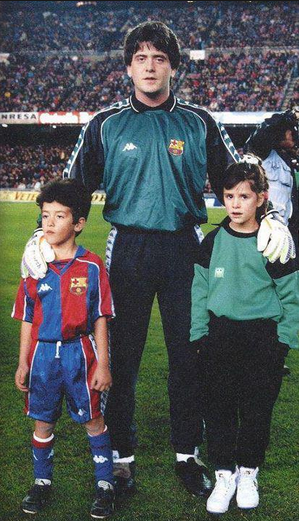 Photo of Sergio Busquets & his  Father  Carles Busquets
