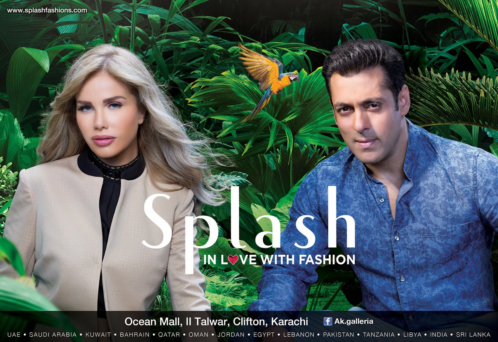 Salman Khan & Nicole Saba for Splash
