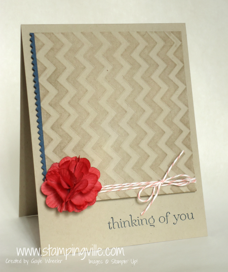 Thinking of You card with dyed paper daisy