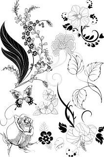 Узорчатый клипарт из рисунков цветов