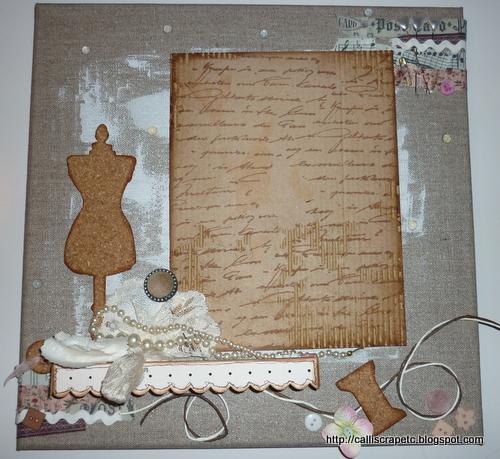 Scrapbooking etc Toile sans titre # Coller Du Tissu Sur Du Bois