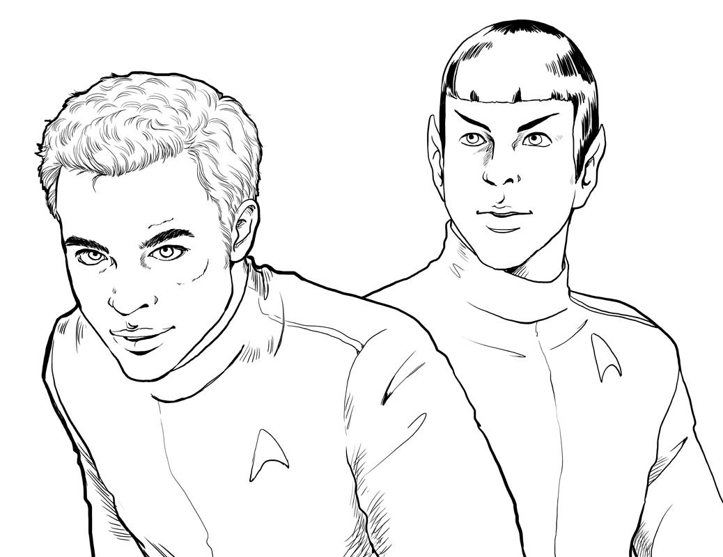 Star trek spock coloring page hot girls wallpaper for Star trek coloring pages