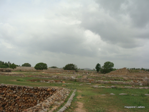 Royal Enclosure - ruins of royal palace Hampi