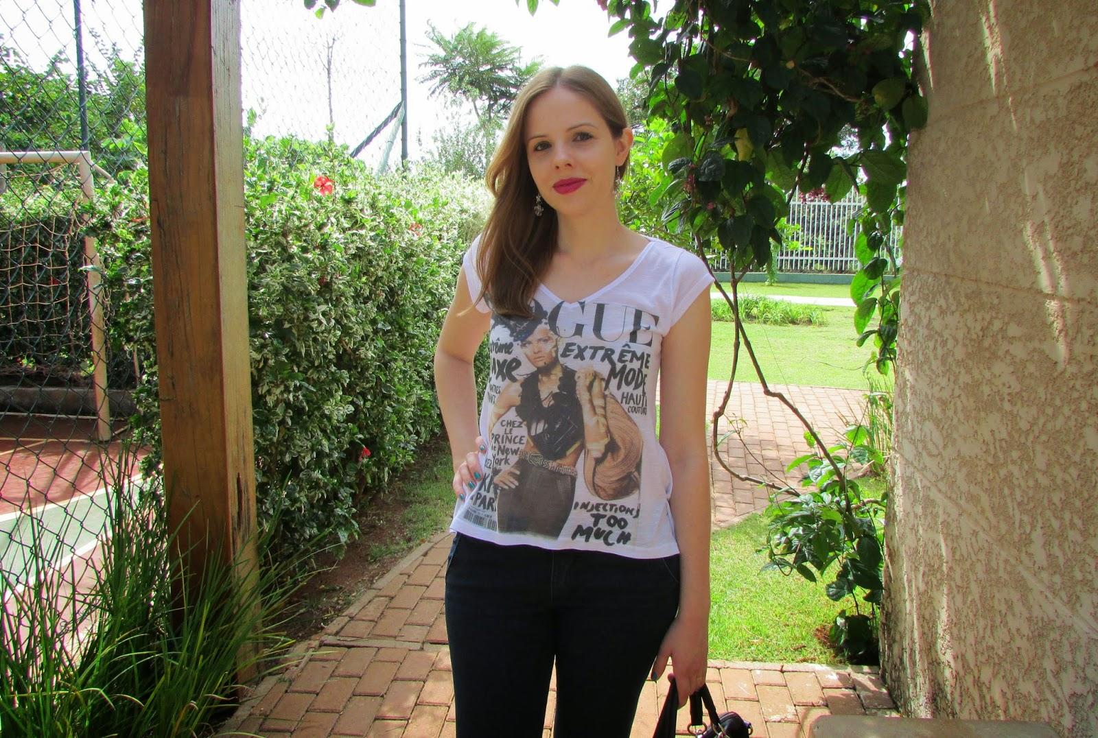 Look, Blusa, Aeroposter, estampa, revista, Vogue