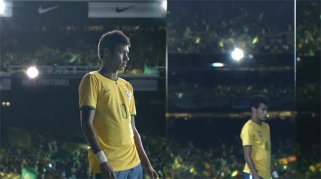 Neymar protegido por espejos