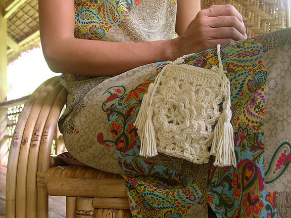 Tangled Happy A Lacy Flower Purse