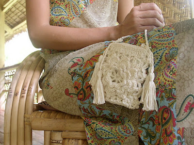 free crochet pattern lacy flower purse
