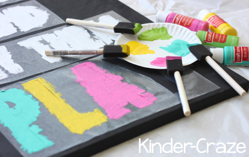 chalkboard-inspired painted canvas tutorial