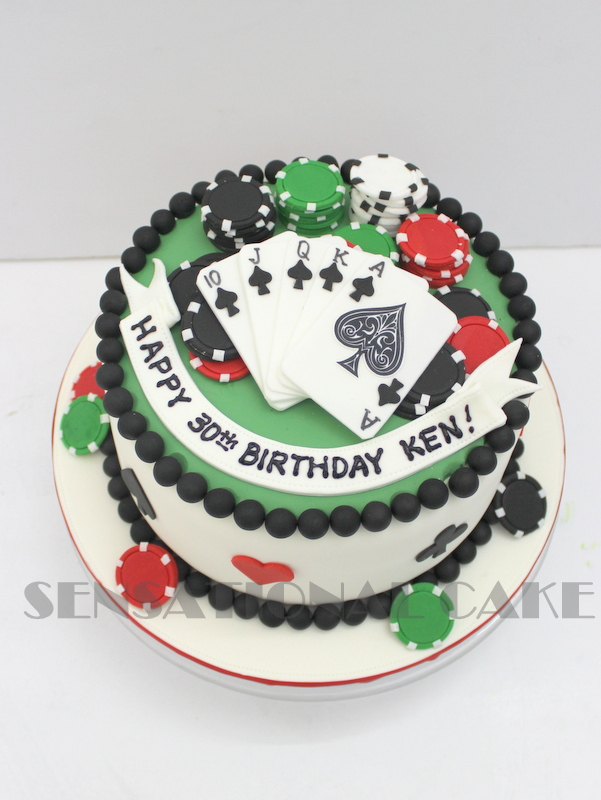 The Sensational Cakes Casino Roulette Theme Birthday Bespoke Cake