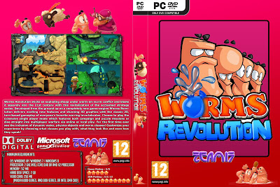 Worms Revolution PC DVD Capa