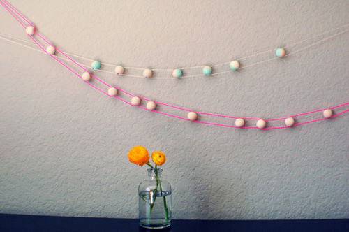 Tutorial guirnalda con bolitas de madera. DIY Wood Craft Beads Garland