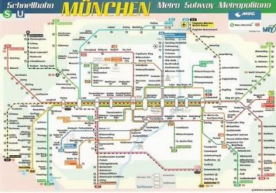 München Metro Subway Map