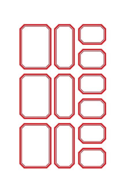 Favori coeur de beurre scrapbooking et fantaisies: Des étiquettes rétro  XQ61