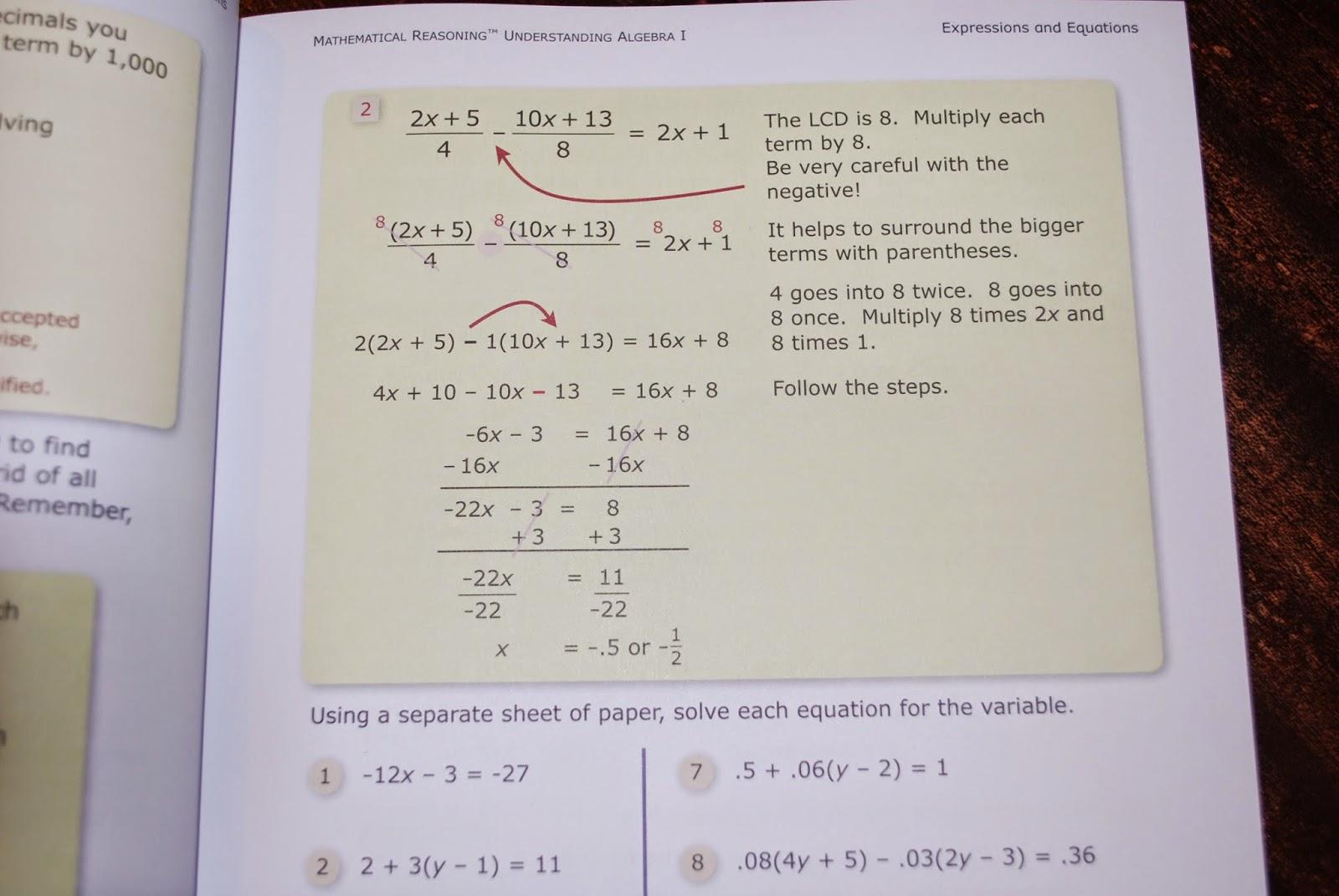 Homeschool Happenings: Understanding Algebra I ~ The Critical ...