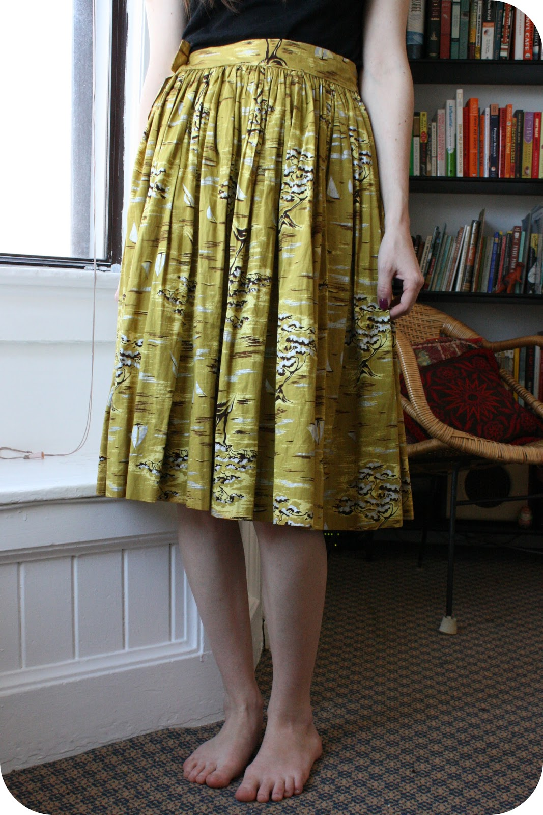 deliciously yours: you don\'t need a sewing machine to hem a skirt