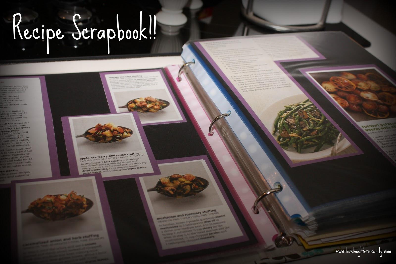 How to scrapbook a recipe book - Recipe Scrapbook