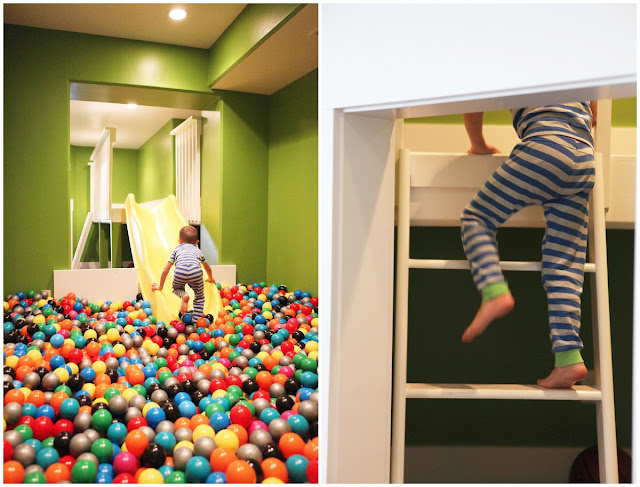 In Home Ball Pit With Slide Space Under Stairs