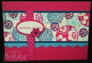 Cirlce Circus Card by UK Stampin' Up! Demonstrator Bekka Prideaux