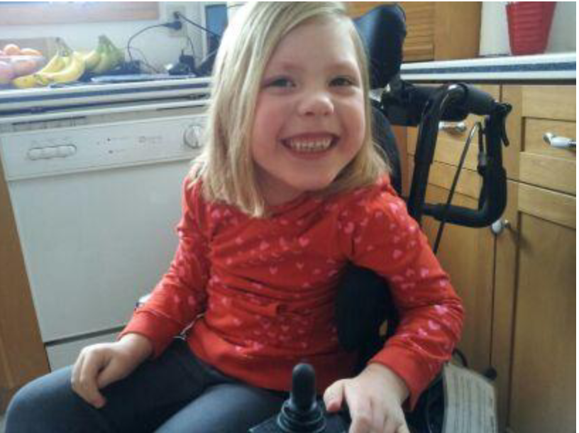 Kaydance Lane in Wheelchair in her Kawartha Lakes Home image linked to 2014 mobility voting contest