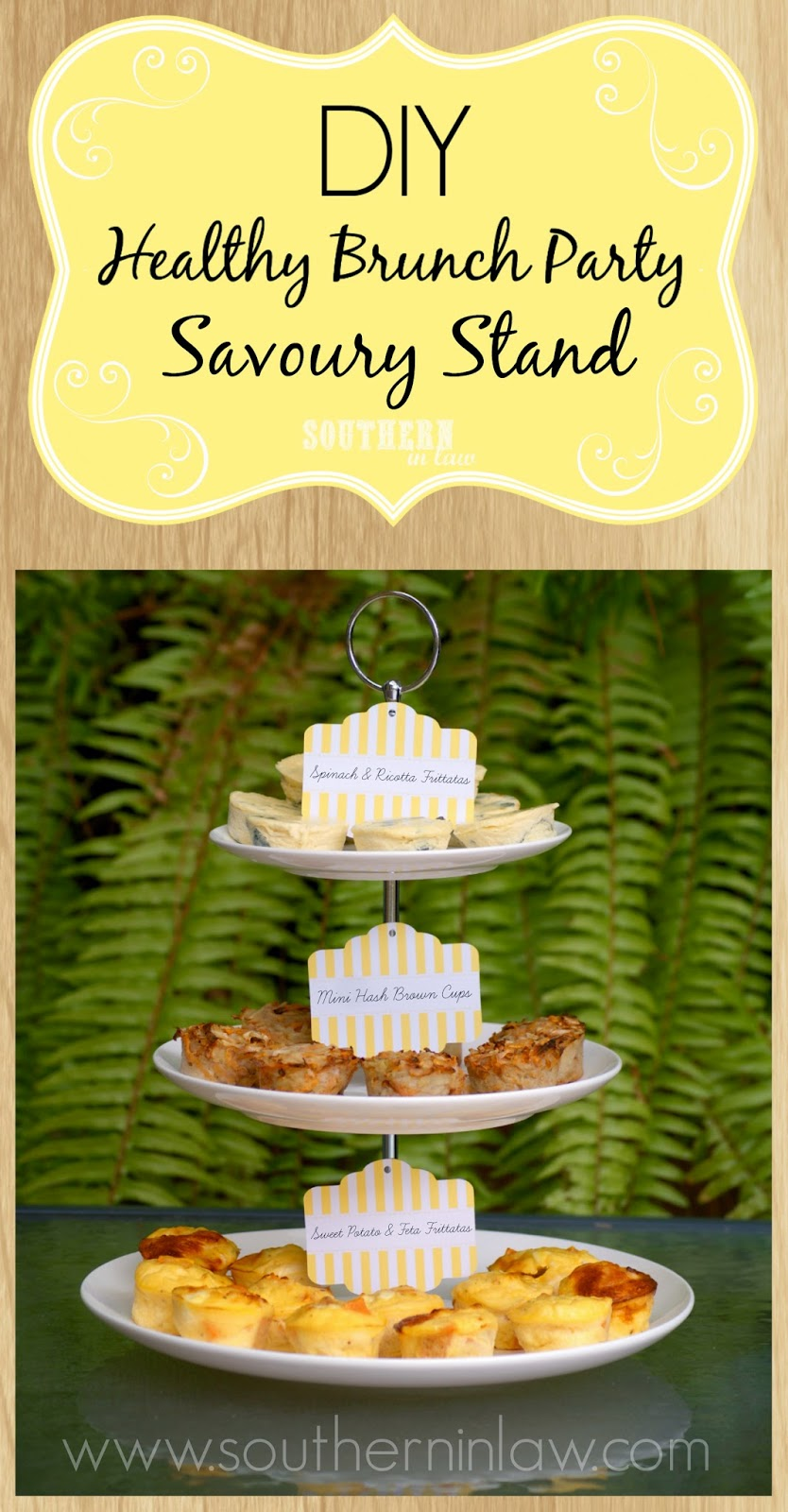 How to host your own healthy brunch party - Healthy savoury stand - Mini frittatas and mini hash brown cups
