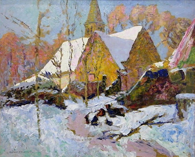 Victor Charreton - Chapelle sous la neige