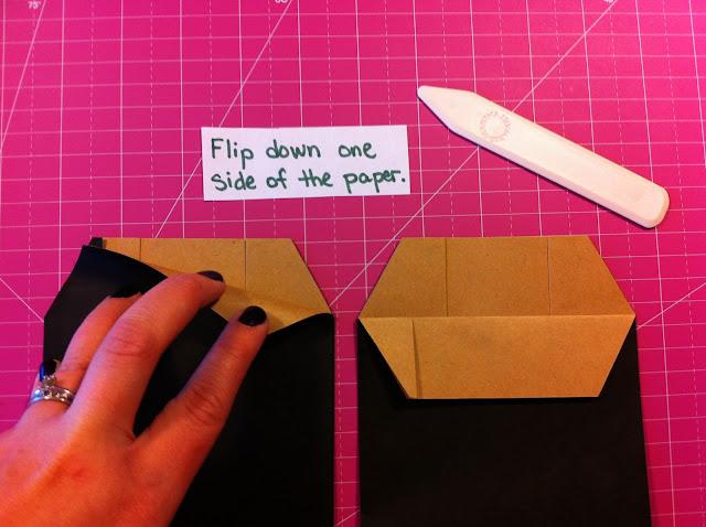 making-paper-bag-album-black